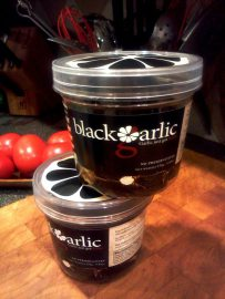 Cloves of black garlic from Black Garlic, Inc.