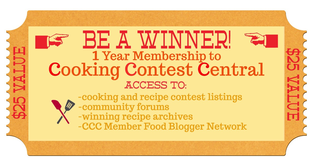 Be a winner the cooking contest central membership giveaway live well for starters ccc is the largest website and online community dedicated to cooking and recipe contests members receive access to contest listings forumfinder Choice Image