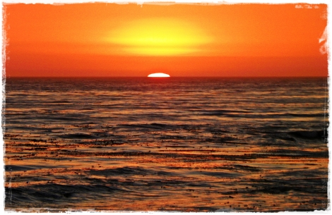 Breathtaking sunset in Cambria, CA.