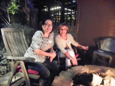 My guest, Lisa, with Valarie Obata.