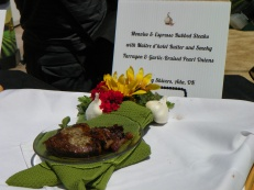 Mary's Monviso & Espresso Rubbed Steak. Monviso is an heirloom garlic variety grown in Gilroy.