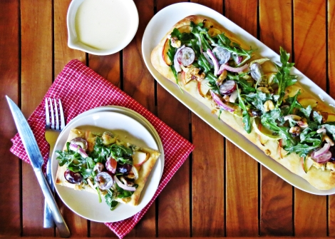 Waldorf Flatbreads with Fennel, Blue Cheese and Arugula